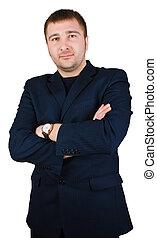 businessman fold his arms