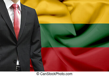 Businessman from Lithuania conceptual image