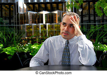 Businessman frustrated