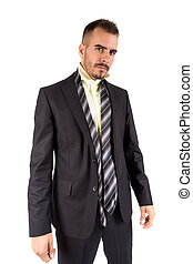 Businessman full length isolated