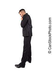 Businessman full length isolated