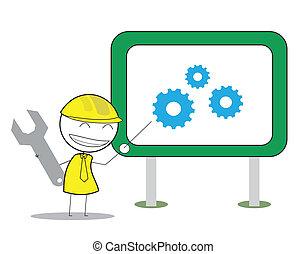 businessman gear presentation