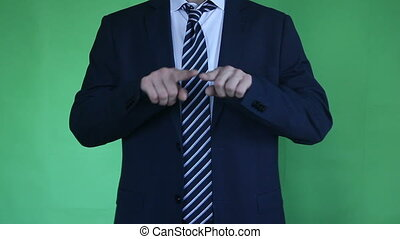 businessman gesture green screen