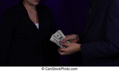 Businessman Gives the Bribe Money, Corruption