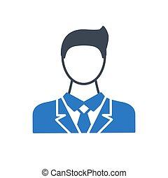 Businessman Glyph Vector Icon