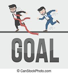 businessman goal illustration