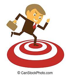 Businessman got the target
