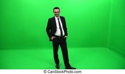 Businessman Green Screen