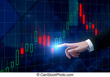 Economy and fund management concept - Businessman hand...