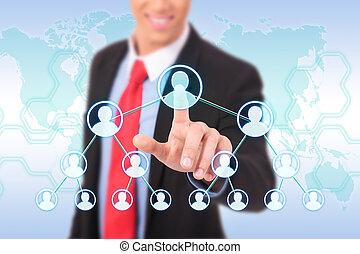 pushing social network on world map