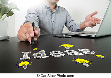 businessman hand working with new modern computer g business Ideas Concepts