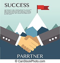 Businessman hands shaking together for agreement success.