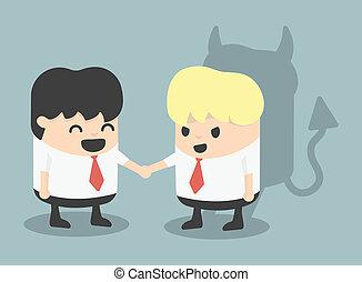 Businessman Handshake impostor