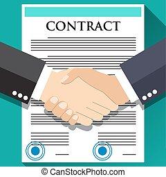 Businessman handshake on contract