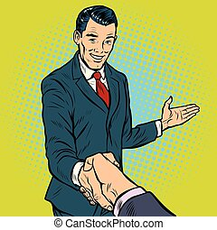 businessman handshake, partnership and cooperation