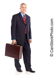 Businessman - Handsome mature businessman. Isolated over ...