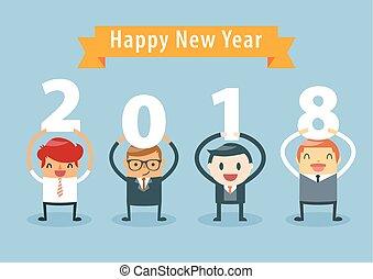 Businessman Happy New Year