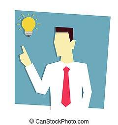Businessman has business idea. Business idea concept.