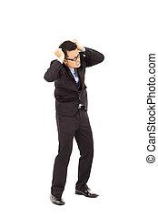 businessman have headache situation
