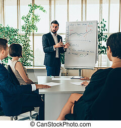 Businessman have presentation in office