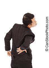 businessman have waist pain