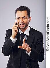 Businessman Having a Conversation on Phone
