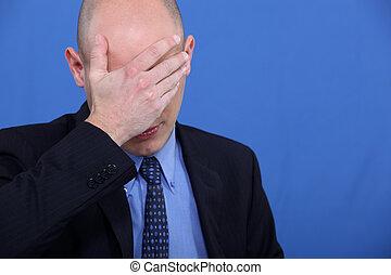 businessman having a headache