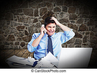 Businessman having a stress.