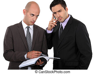 businessman having a very important conversation on his cell