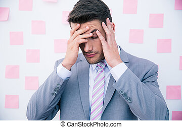 Businessman having headache