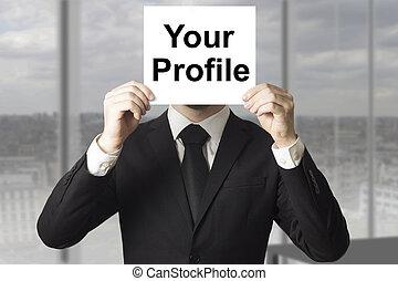 businessman hiding face your profile - businessman hiding...