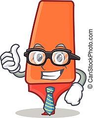 Businessman highlighter cartoon character style