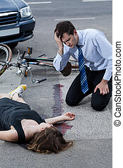 Businessman hit young woman