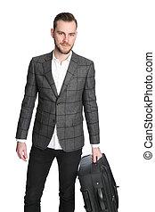 Businessman holding a bag