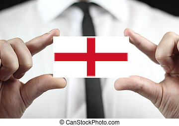 business card with a England Flag