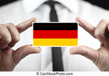 business card with a Germany Flag