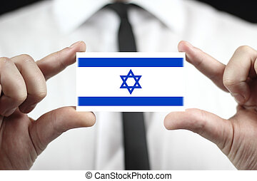business card with a Israel Flag