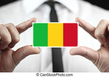 business card with a Mali Flag