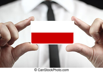 business card with a Poland Flag