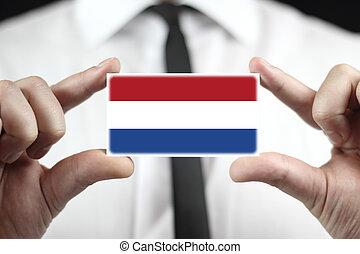 business card with The Netherlands