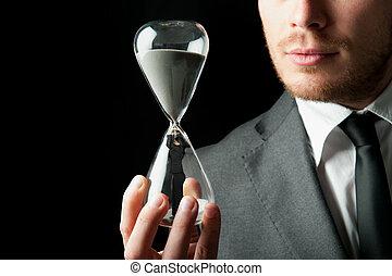 Businessman holding
