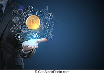 Innovation and cryptocurrency concept