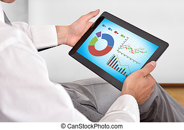 touch pad with stock chart