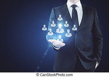Employer concept
