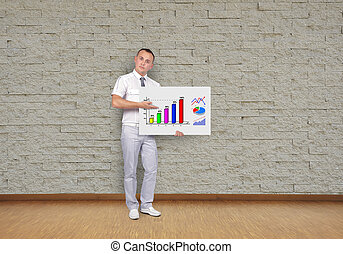 placard with business chart