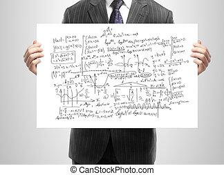 poster whit mathematical formulas