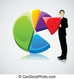 Businessman holding Profit Sharing - easy to edit vector...