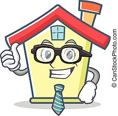 Businessman house character cartoon style