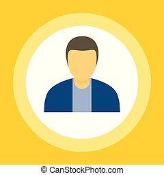 Businessman icon, flat style