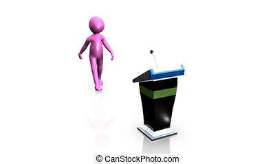 Businessman icon giving a presentation